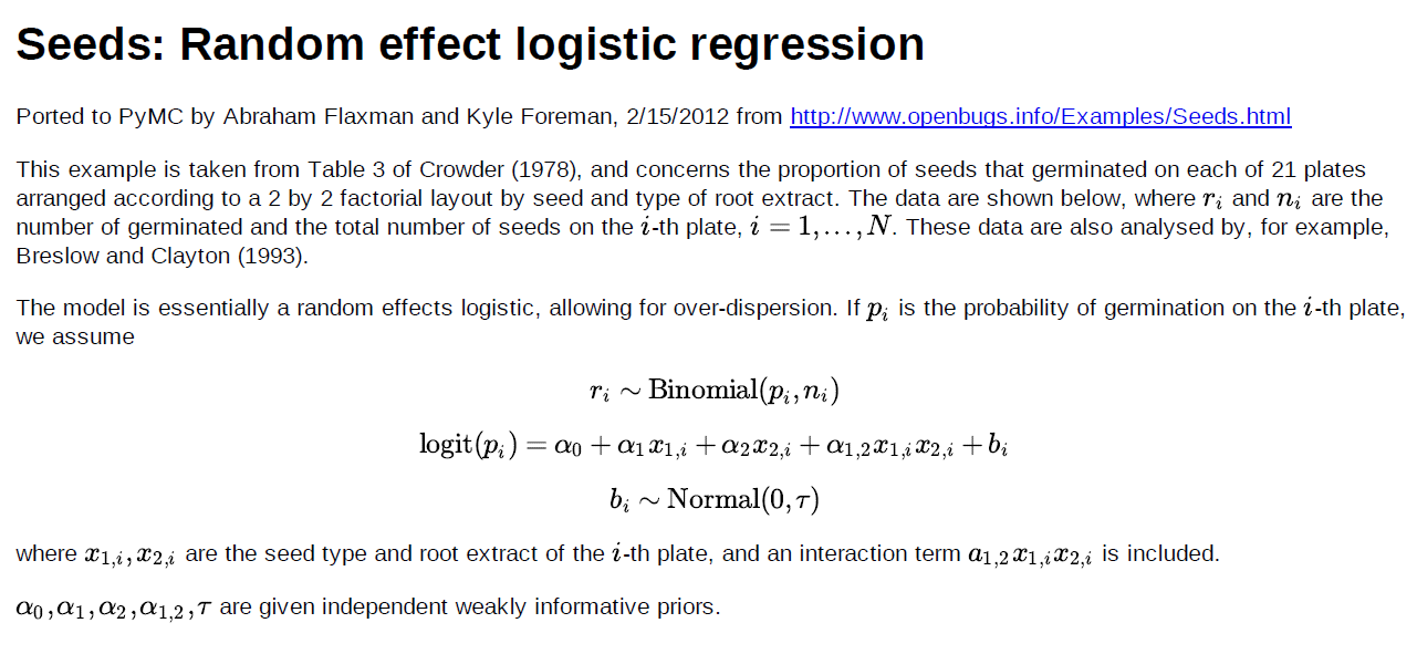 MCMC in Python: A random effects logistic regression example