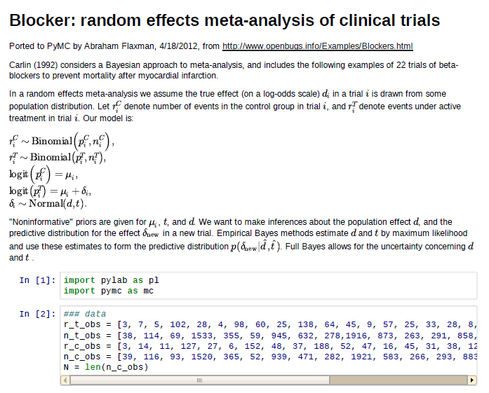 MCMC in Python: Bayesian meta-analysis example | Healthy