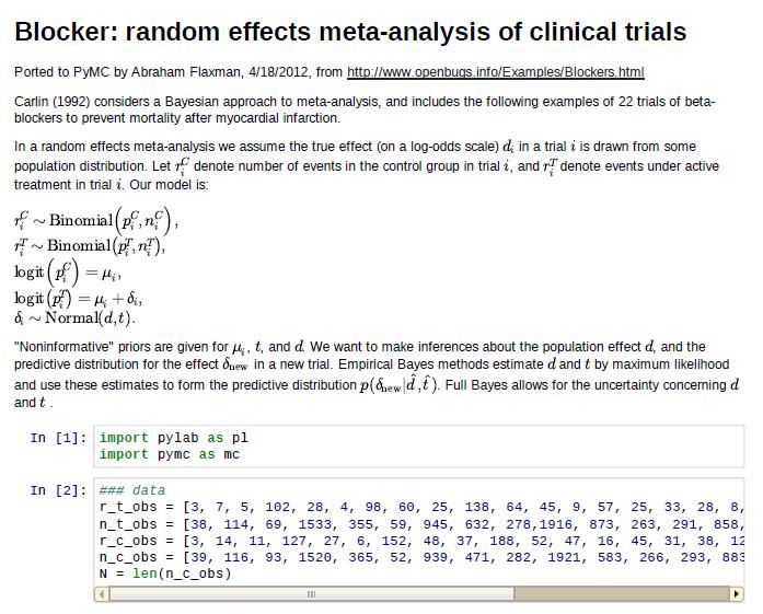 MCMC in Python: Bayesian meta-analysis example | Healthy Algorithms
